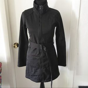 The North Face long pea black coat